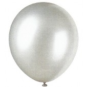 Silver Pearlized Balloons