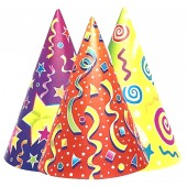 C Kaleidoscope Party Hatss Assorted