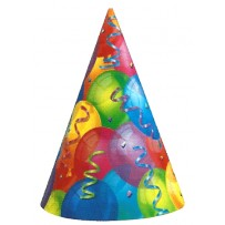 Brilliant Balloons Party Hats